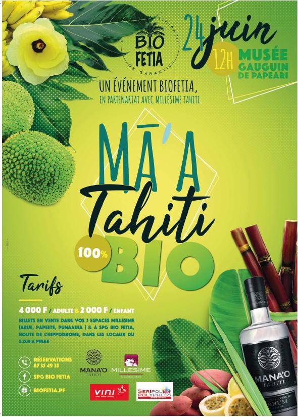 Ma'a Tahiti du SPG Biofetia, le 24 juin